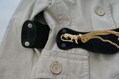 Black and gold panther waist belt - pure vintage