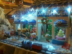 Copenhagen Bakery in Burlingame, California and their beautiful Christmas sweets house.