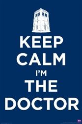 Unique Wall Decor For Dorms - Dr. Who Keep Calm Poster - Great For Fans