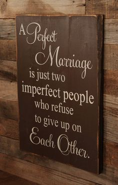 Maybe this is why we have made it so long:) Large Wood Sign A Perfect Marriage Subway Sign by dustinshelves