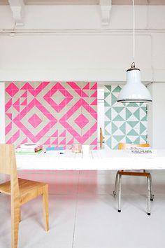 #geometric #print #wall