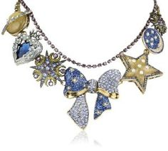 "Betsey Johnson Jewelry | ... Betsey Johnson ""Heaven's to Betsey"" Bow Multi-Charm Necklace: Jewelry"