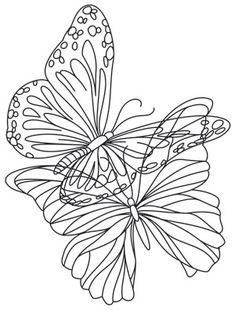 Flight of Butterflies embroidery, part 4 Sashiko Embroidery, Hand Embroidery Patterns, Vintage Embroidery, Beading Patterns, Embroidery Stitches, Embroidery Designs, Butterfly Drawing, Butterfly Embroidery, Machine Applique