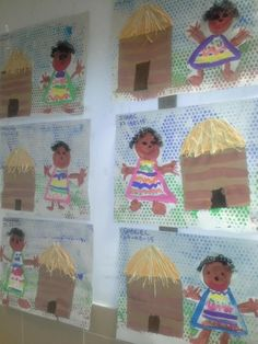 Africa South Africa Art, Kenya Africa, West Africa, African Art Projects, African Crafts, African Hut, Safari, School Themes, Child Day