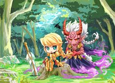 Brave Frontier: Zebra and Atro by 9mg2 on DeviantArt