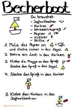Becherboot basteln #boot #basteln #kinder #kids #craft