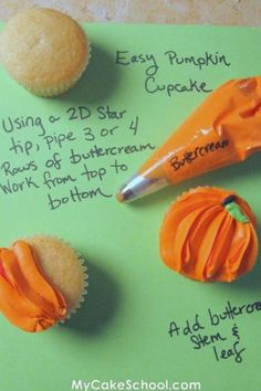 How to pumpkin cupcake