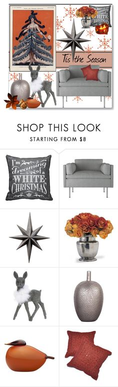 """""""Tis' the Season"""" by stephlo-1 on Polyvore featuring interior, interiors, interior design, home, home decor, interior decorating, BassamFellows, Cyan Design, Lord & Taylor and Dot & Bo"""