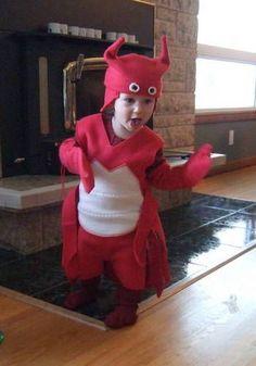 DIY toddler lobster costume