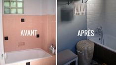 Before / After: Renovate a bathroom in a neo-retro style Diy Storage Table, Retro Stil, Western Homes, Home Staging, My Dream Home, New Homes, Bathtub, House Design, Home Decor