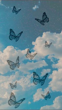 Ed Wallpaper, Retro Wallpaper Iphone, Iphone Wallpaper Tumblr Aesthetic, Iphone Background Wallpaper, Disney Wallpaper, Aesthetic Pastel Wallpaper, Wallpaper Quotes, Aesthetic Wallpapers, Blue Butterfly Wallpaper