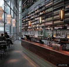 Varnished Wood bar