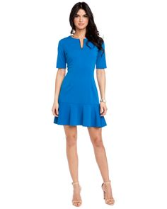 "Julie Brown ""Celine"" Navy & Green Stripe Strapless Dress"