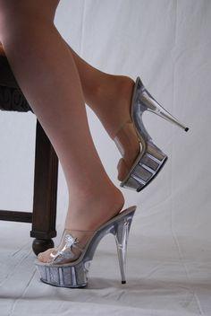 Fifty 6 #Pantolette silber Größe 40