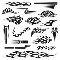 Vinyl Art Decoration Stickers For Cars, Unique And Handmade Ornaments,. Royalty Free Cliparts, Vectors, And Stock Illustration. Bike Stickers, Pinstriping Designs, Line Art Vector, Flame Art, Banner Printing, Handmade Ornaments, Vinyl Art, Sticker Design, Art Inspo