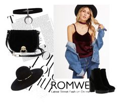 """""""Romwe contest!"""" by merimaa997 ❤ liked on Polyvore featuring Eugenia Kim, Hogan and Diane Von Furstenberg"""