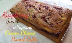 LY's Kitchen Ventures: Raspberry Swirl Whipping Cream Cheese Pound Cake