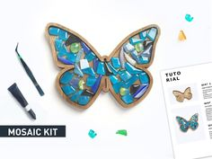 art kits for kids gift & art kits for kids ; art kits for kids diy ; art kits for kids gift Mosaic Wall Art, Mosaic Diy, Mosaic Glass, Mosaic Garden, Mosaic Tiles, Blue Crafts, Crafts For Girls, Gifts For Kids, Stained Glass Kits
