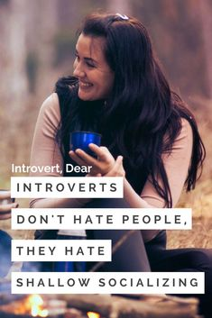 """I oversimplify and say I don't like people, when what I actually dislike are the surface-level interactions of most social gatherings."" #introvert"