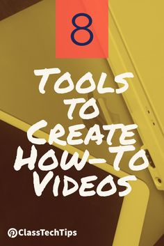 8 must-try favorites! Students can demonstrate what they've learned and share their knowledge with others and create how-to videos in any subject area!