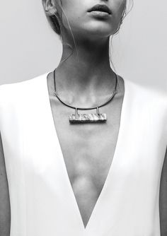 Marble Bar necklace by LLY Atelier