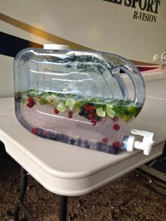 Mojito Recipe for Camping » Dragonfly Designs- no mojito for us, but good idea for juice on the run for kids Camping Water, Camping Glamping, Outdoor Camping, Camping In The Rain, Camping Packing, Outdoor Travel, Rv Travel, Camping Outdoors, Lake Camping