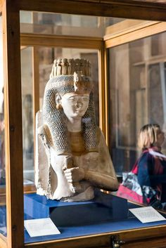 Merit-Amun,Ramesses II's daughter,painted limestone statue,from Ramesseum at Thebes,Egyptian Civilisation,New Kingdom, Dynasty XIX.