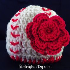 Crochet Baby Girl Baseball Hat with Flower Clip: Newborn, Baby, and Toddler Sizes -  Etsy.com