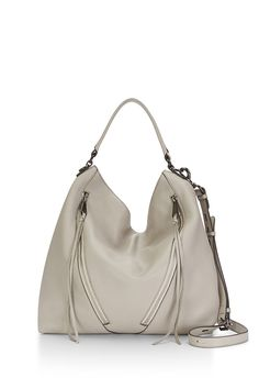 Moto Hobo - Slouchy and accented with leather tassels, this hobo bag is both super chic and versatile. It's roomy enough for all your work and gym essentials, but won't look out of place at dinner.