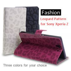 Leopard Pattern Wallet with Stand Leather Case for Sony Xperia Z, fashion and you can't stop loving them~