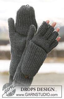 "Nesting Fingers - DROPS gloves with flap in ""Merino Extra Fine"". - Free pattern by DROPS Design Winter Knitting Patterns, Knitted Mittens Pattern, Knit Mittens, Free Knitting, Crochet Patterns, Drops Design, Fingerless Gloves Knitted, Wrist Warmers, Knitting Accessories"