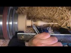 Hand woodturning a Oak clock Finial - YouTube