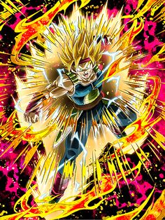 [Chance of a Super Evolution] Super Saiyan 2 Bardock/Dragon Ball Z: Dokkan Battle Dragon Ball Z, Bardock Super Saiyan, Broly Ssj3, Dragon Super, Goku Super, King Kong, Son Goku, Cool Art, Otaku