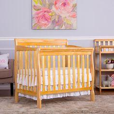Dream On Me Aden 4-in-1 Convertible Mini Crib - Natural