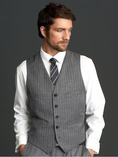 Vests are a great way to dress up a suit.   25 Suit Hacks That Will Make Any Man Look Instantly Sexy