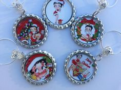 Christmas Glass Charms, use on any glass with a stem..even coffee mugs