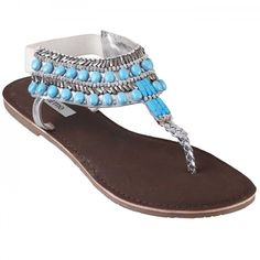 Metro Silver Casual Sandals