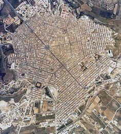 Grammichele, rebuilt after the 1693 earthquake as an ideal Baroque geometric city