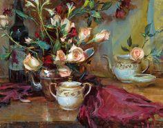 Daniel Gerhartz   American Painter   Ladies and Flowers