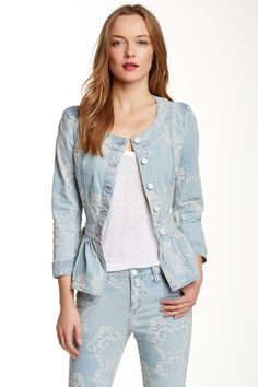 Brocade Denim Jacket by Marchesa on @HauteLook