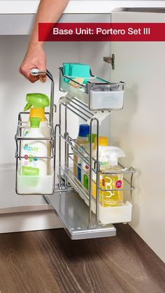 The Portero Set III is a perfect storage solution for your under-sink kitchen cabinet. - All About Gardens Under Kitchen Sink Organization, Kitchen Sink Storage, New Kitchen Cabinets, Under Sink Bin, Under Sink Storage, New Countertops, Sink Organizer, Decoration, Cooking