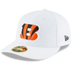 Men s Cincinnati Bengals New Era White Omaha Low Profile 59FIFTY Fitted Hat f86049b66