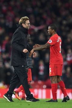 The Liverpool number Five got warm hug from Klopp. Liverpool ONE Manchester City NIL.