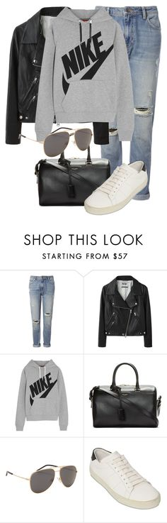 """Untitled #1919"" by annielizjung ❤ liked on Polyvore featuring Whistles, Acne Studios, NIKE and Yves Saint Laurent"