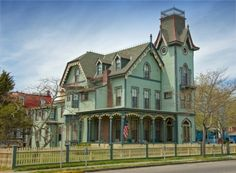 Always loved this house in Cape May New Jersey. French Second Empire Victorian. Victorian Style Homes, Victorian Gothic, Victorian Houses, Victorian Life, Victorian Ladies, Victorian Design, Victorian Decor, Gothic House, Architecture Images
