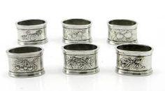 Napkin rings Fruit Napkin ring of pewter made by hand. #madeinitaly #artigianato #pewter #peltro