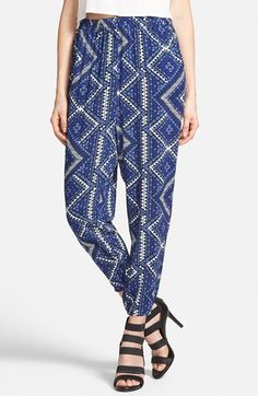 Leith+Crop+Print+Pants+available+at+#Nordstrom