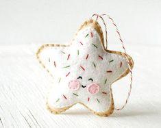 PDF Pattern Sugar Cookie Star Christmas Ornament by Bauldemalinka