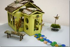 Habitat Restore Restyle Event: Kerri and Trevor's Playroom - fairy house from electrical outlet covers