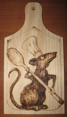 Ratatouille - pirografia su tagliere